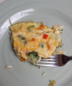 Eating Frittata